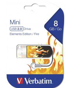 Verbatim Mini Usb 2.0 8Gb  Elements Edition Fire