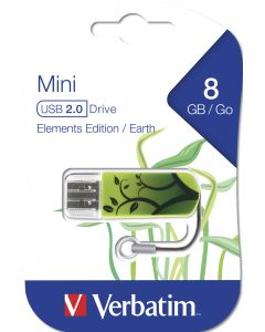 Verbatim Mini Usb 2.0 8Gb  Elements Edition Earth