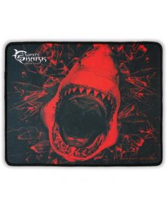 Mouse pad Gaming GMP-1699 SkyWalker L White Shark, 320 x 250, Rosu