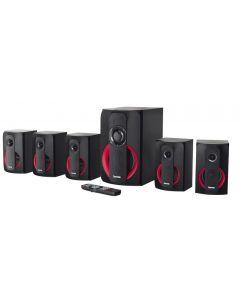 Boxe Hama 5.1 5120, 120W, Bluetooth, FM, Negru/Rosu