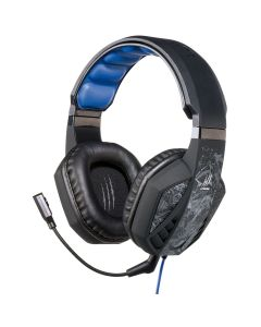 Casti Gaming cu microfon uRage SoundZ Hama, Cablu 2.5m, USB, Negru