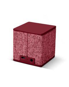 Boxa portabila FRESH 'N REBEL Rockbox Cube Hama, 3W, Bluetooth, Microfon, Jack 3.5mm, MicroUSB, Rosu