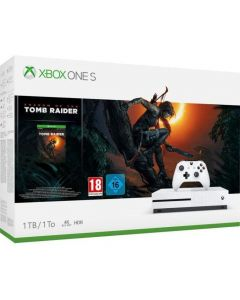 Consola Microsoft Xbox One S + Joc Shadow of the Tomb Raider, 1 TB