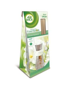 Odorizant betisoare parfumate Air Wick Reed Diffusers Frezie si Iasomie, 25 ml