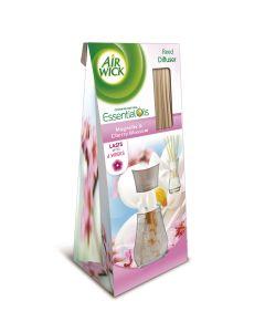Odorizant de camera cu betisoare Air Wick Reed Diffusers Magnolie si Flori de Cires, 25 ml