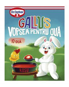 Vopsea granulata rosu Gallus pentru 10 oua