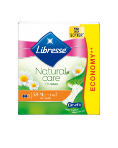 Absorbante zilnice Libresse Natural Care Normal, 58 bucati