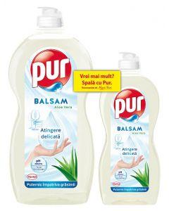 Detergent de vase Pur Balsam Aloe Vera, 1.35 L + 450 ml