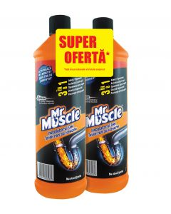 Gel desfundat tevi Mr Muscle, 2x1L