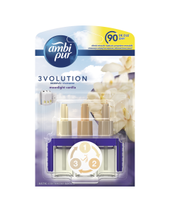 Rezerva odorizant pentru camera electric Ambi Pur 3Volution Moonlight Vanilla, 20 ml