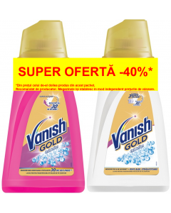 Solutie indepartare pete Vanish Gold Pink, 940 ml + Gold White 940 ml