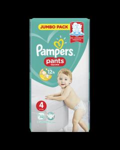 Scutece chilotel Pampers Pants Jumbo Pack, Marime 4, 9-15 kg, 52 buc