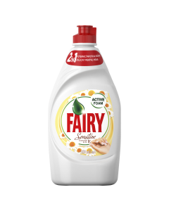 Detergent de vase Fairy Sensitive Chamomile & Vitamin E, 450 ml