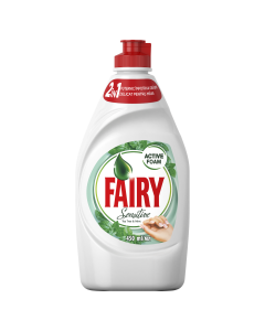 Detergent de vase Fairy Sensitive Teatree & Mint, 450 ml