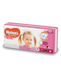 Scutece Huggies Ultra Comfort, nr 5, 12-22 kg, Mega, 56 buc, pentru fetite