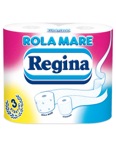 Hartie igienica Regina Rola Mare, 4 role, 3 straturi