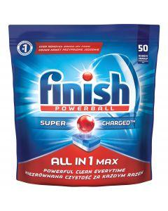 Detergent tablete pentru masina de spalat vase Finish All in One Max, 50 buc
