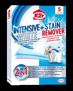 Aditiv pentru spalare K2r Intensive White + Stain Removal, 5 buc
