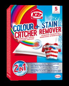 Aditiv pentru spalare K2r Colour Catcher + Stain Removal, 5 buc