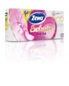 Hartie igienica Zewa Exclusive Ultra Soft, 4 straturi, 8 role