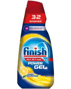 Detergent gel pentru masina de spalat vase Finish All in One Max Lemon, 650 ml