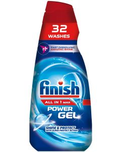 Detergent gel pentru masina de spalat vase Finish All in One Max Regular, 650 ml