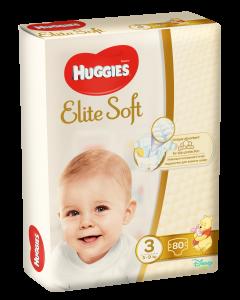 Scutece Huggies Elite Soft, nr 3, 5-9 kg, Mega, 80 buc