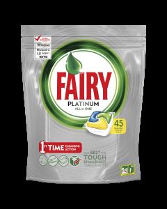 Detergent capsule pentru masina de spalat vase Fairy Platinum, 45 buc