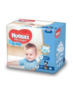 Scutece Huggies Ultra Comfort, nr 4, 8-14 kg, Box, 126 buc, pentru baieti