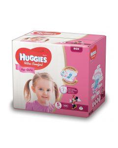 Scutece Huggies Ultra Comfort, nr 5, 12-22 kg, Box, 105 buc, pentru fetite