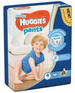 Scutece chilotel Huggies Pants, nr 4, 9-14 kg, Mega, 52 buc, pentru baieti