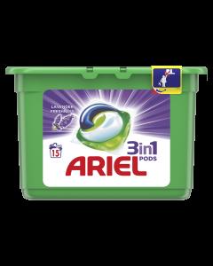 Detergent automat capsule Ariel 3in1 PODS Lavanda, 15 spalari, 15 buc