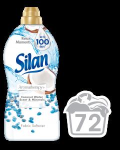Balsam de rufe Silan AromaTherapy+ Coconut Water Mineral, 72 spalari, 1.85 L