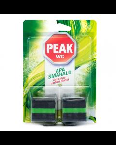 Tablete anticalcar pentru bazin Peak WC Apa Smarald, 2buc x 50 gr
