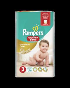 Scutece-chilotel Pampers Premium Care Pants, Marime 3, 6-11 kg, 56 buc