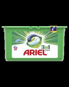 Detergent automat capsule Ariel 3in1 PODS Mountain Spring, 40 spalari, 40 buc