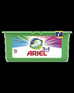 Detergent automat capsule Ariel 3in1 PODS Color, 28 spalari