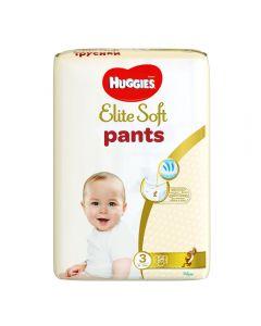 Scutece chilotel Huggies Elite Soft, nr 3, 6-11 kg,  Mega,  54 buc