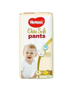 Scutece chilotel Huggies Elite Soft, nr 4, 9-14 kg,  Mega,  42 buc