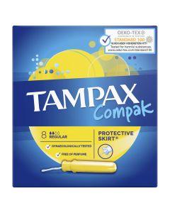 Tampoane Tampax Compak Super cu aplicator, 8 buc