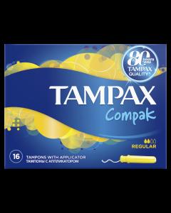 Tampoane Tampax Compak Regular cu aplicator, 16 buc