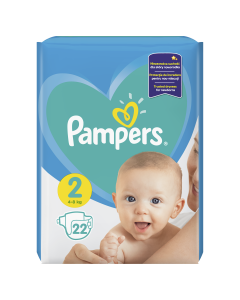 Scutece Pampers New Baby, Marime 2, 4-8 kg, 22 buc