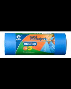 Saci multi top Epack 60 l, 24 buc./rola