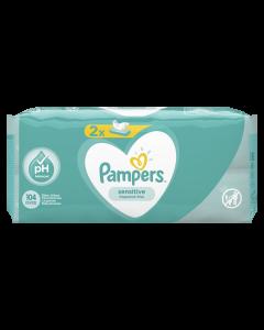 Servetele umede Pampers Sensitive, 2 x 52 buc
