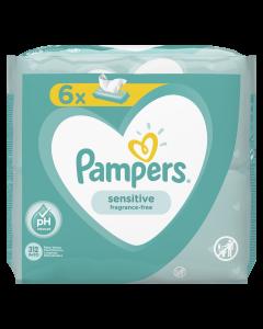 Servetele umede Pampers Sensitive, 6 x 52 buc
