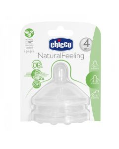 Natural Feeling Tetina silicon 2 buc, flux reglabil, 4 luni+