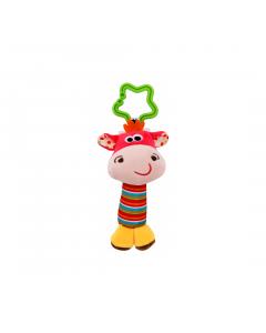 Jucarie zornaitoare din plus, Cow, 18,5 cm, Lorelli