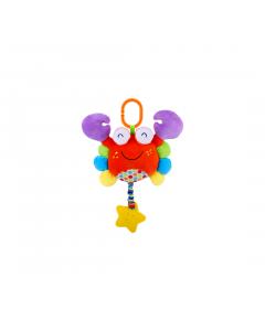Jucarie zornaitoare din plus, Crab, 29,5 cm, cu oglinda, Lorelli