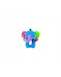 Jucarie zornaitoare din plus, Elephant, 18 cm, Lorelli