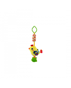 Jucarie zornaitoare din plus, Campanula Bird, 33 cm, Yellow, Lorelli